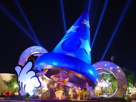 The Scorcerer's Hat inside Disney's Hollywood Studios.