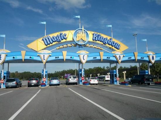 Entrance to Magic Kingdom parking.