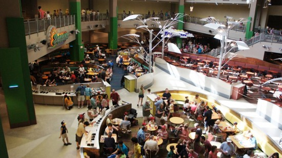 The elevators at Epcot's Land Pavilion are espcially busy.