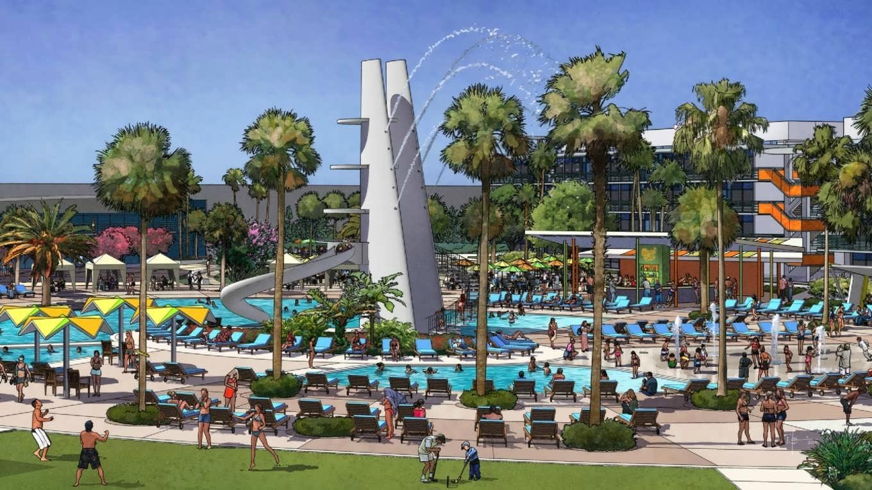 Cabana Bay Beach Resort concept art
