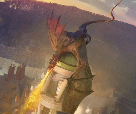 The Wizarding World of Harry Potter - Diagon Alley dragon.