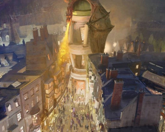 The Wizarding World of Harry Potter - Diagon Alley Gringotts Bank.