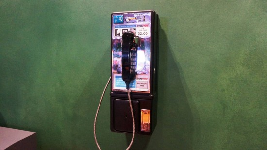 Springfield payphone currently on the wall at Moe's Tavern.