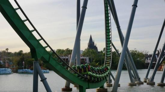 The Incredible Hulk Coaster at Islands of Adventure.