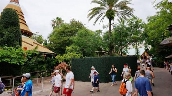 Jurassic Park midway construction.