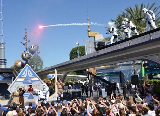 Star Tours opens at Disneyland.