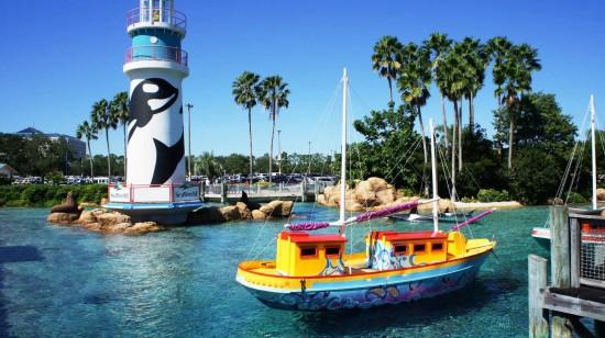 Entrance to SeaWorld Orlando.