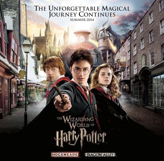 Wizarding World of Harry Potter artwork.
