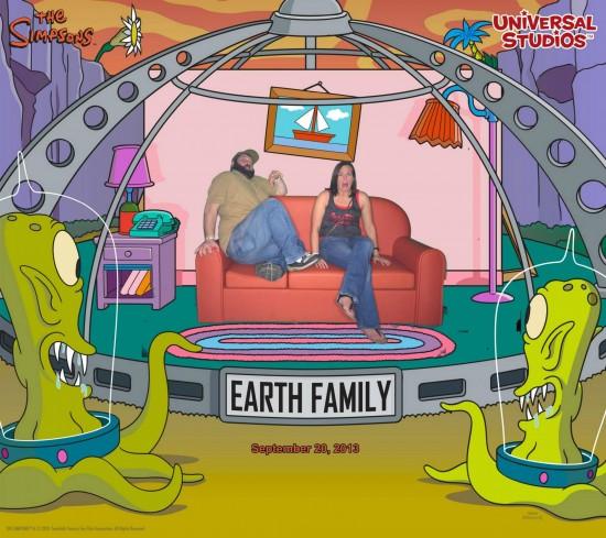 Simpsons couch gag souvenir photo.