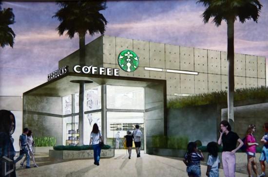 Downtown Disney Starbucks concept art.