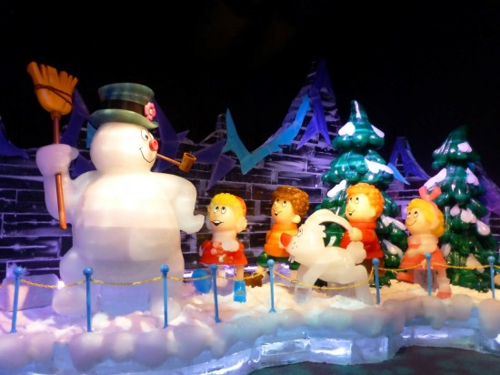 ICE! 2013 featuring Frosty the Snowman at Gaylord Palms.