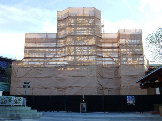 Universal CityWalk construction - November 2013.