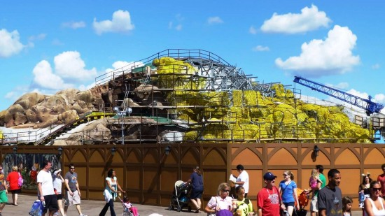 Seven Drawfs Mine Train, the final piece of New Fantasyland, will debut in 2014.