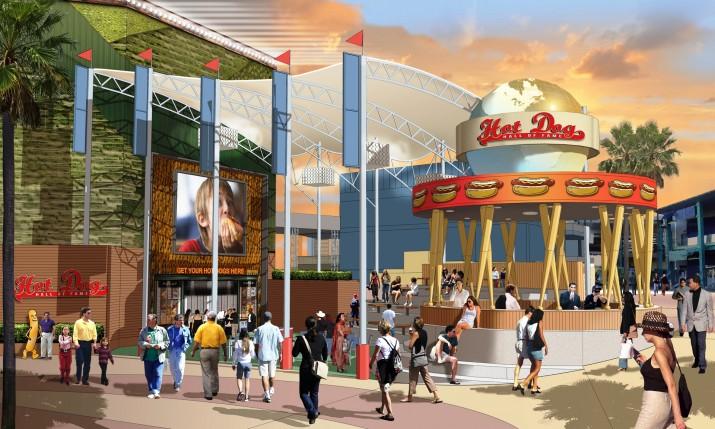 Hot Dog Hall of Fame at Universal CityWalk.