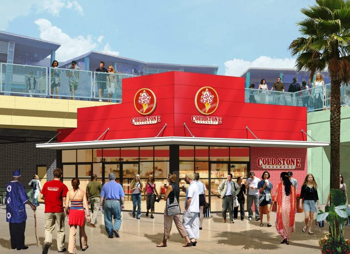 Cold Stone Creamery at Universal CityWalk.