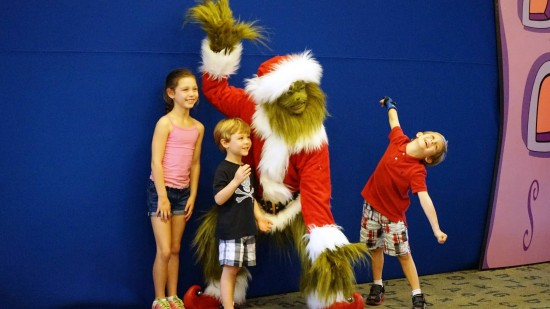 Grinch character during Grinchmas.