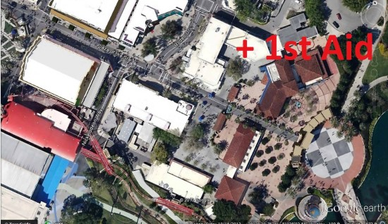 Secondary First Aid location - Universal Studios Florida.