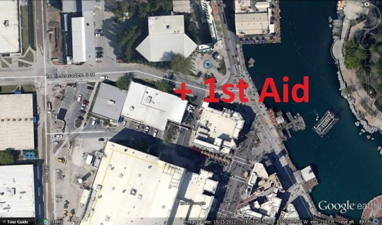Primary First Aid location - Universal Studios Florida.