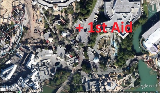 Primary First Aid location - Islands of Adventure.