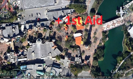 Secondary First Aid location - Islands of Adventure.