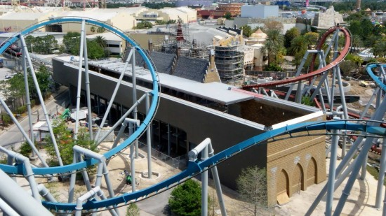 Hogsmeade Station as viewed from Dragon Challenge this week.