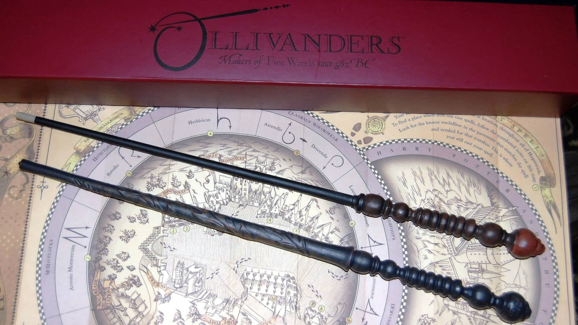 Comparing an old and an interactive wand