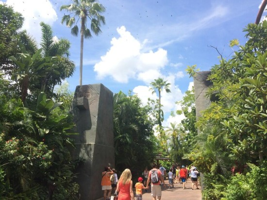 Jurassic Park archway.