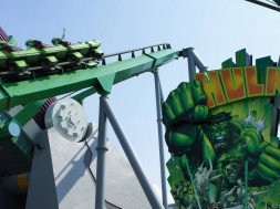 The Incredible Hulk Coaster at Islands of Adventure's Marvel Super Hero Island.