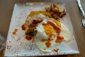 Huevos Rancheros at Amatista Cookhouse at Loews Sapphire Falls Resort
