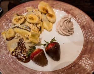 Nutella and Banana Crepe at Toothsome Chocolate Emporium at Universal Orlando CityWalk