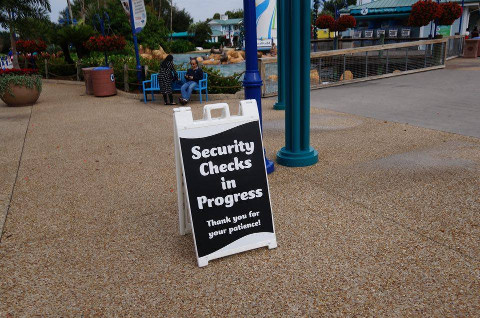 Enhanced security screening at Universal, Disney, and SeaWorld