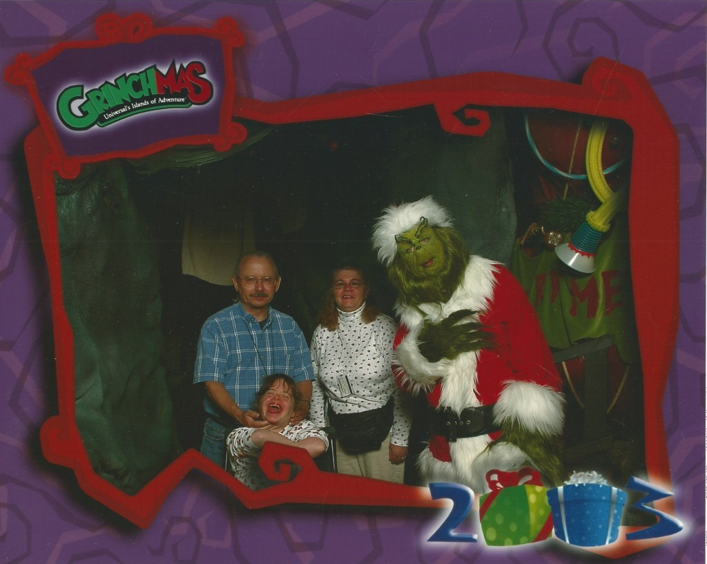 Family & Grinch using Photo Connect in 2003