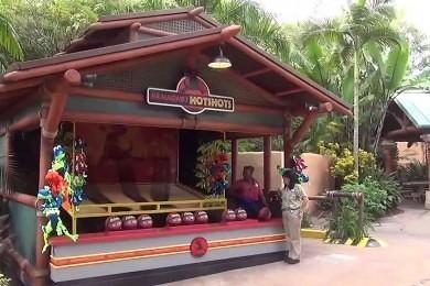 Jurassic Park carnival games at Islands of Adventure.