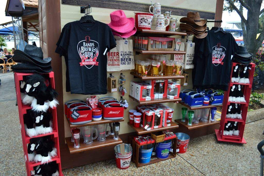 Specialty merchandise at SeaWorld's Bands, Brews, and BBQ