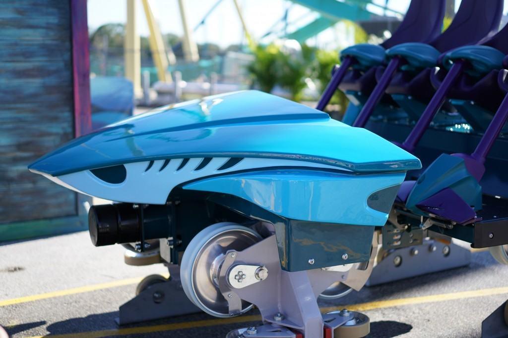 Mako at SeaWorld ride vehicle