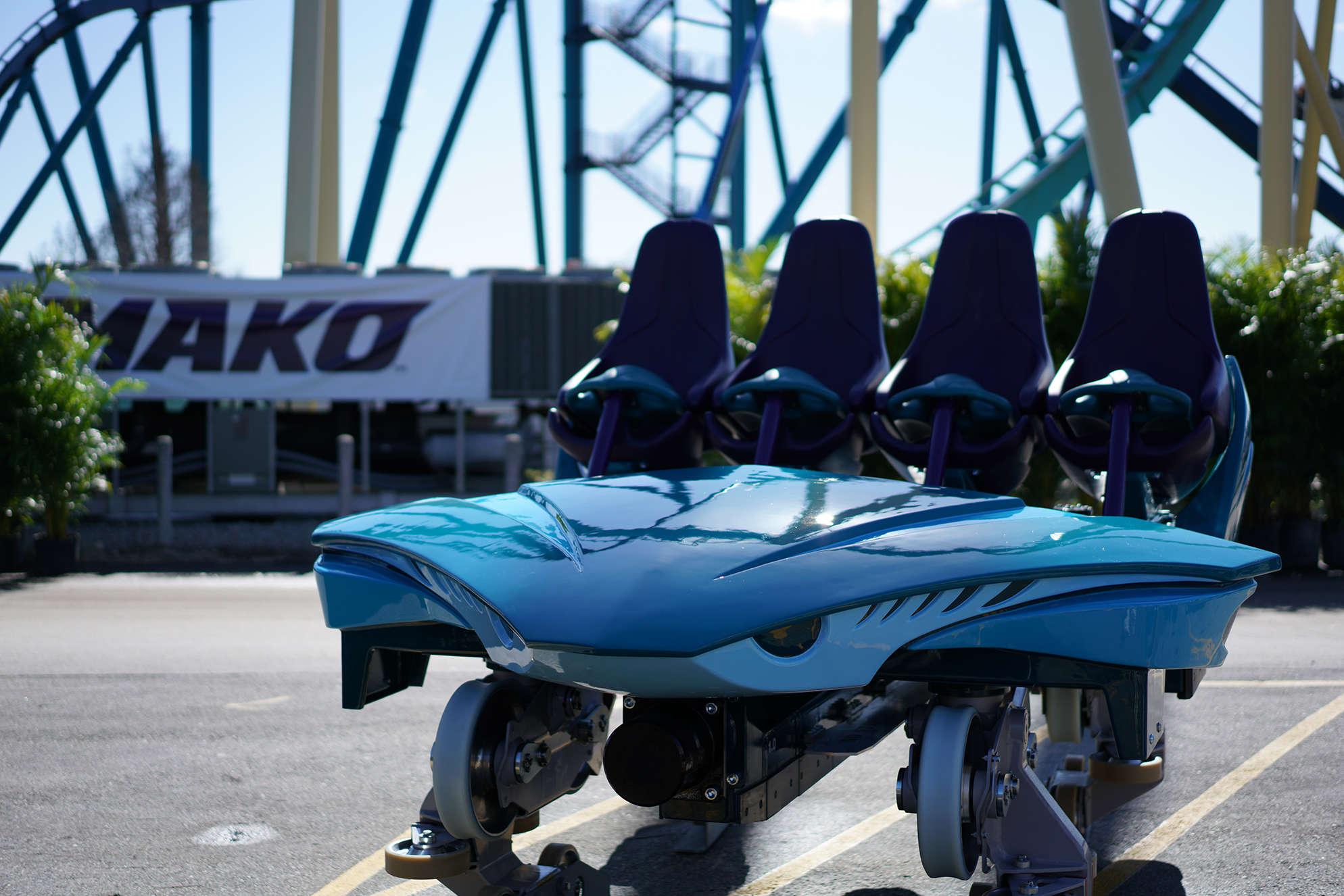 Mako ride vehicles unveiled at SeaWorld Orlando
