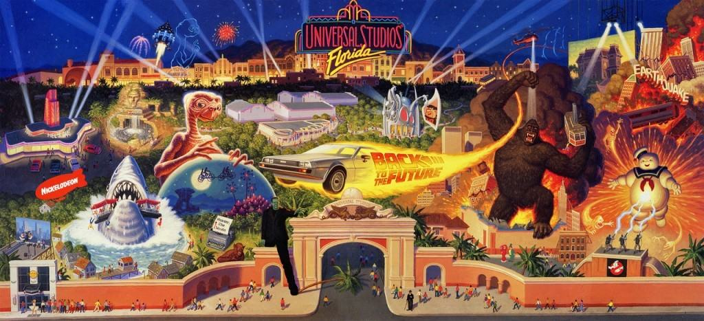 Opening day banner - Universal Studios Florida in 1990