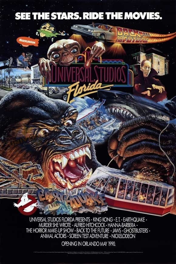 Opening day poster - Universal Studios Florida in 1990