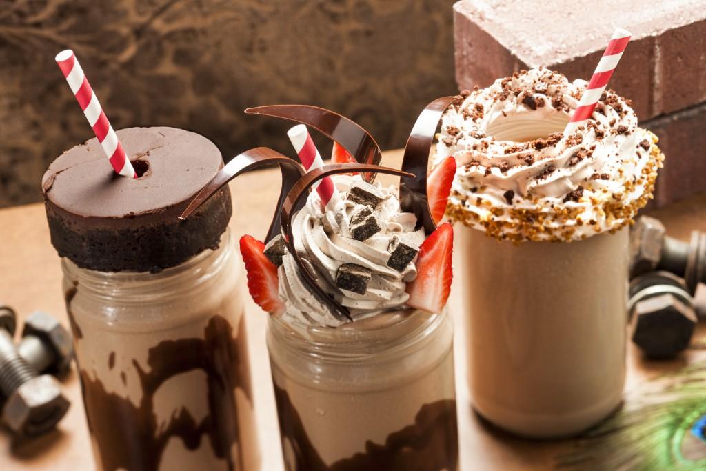 Toothsome Chocolate Emporium's lineup of milkshakes