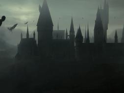 Dementors swirl around Hogwarts Castle