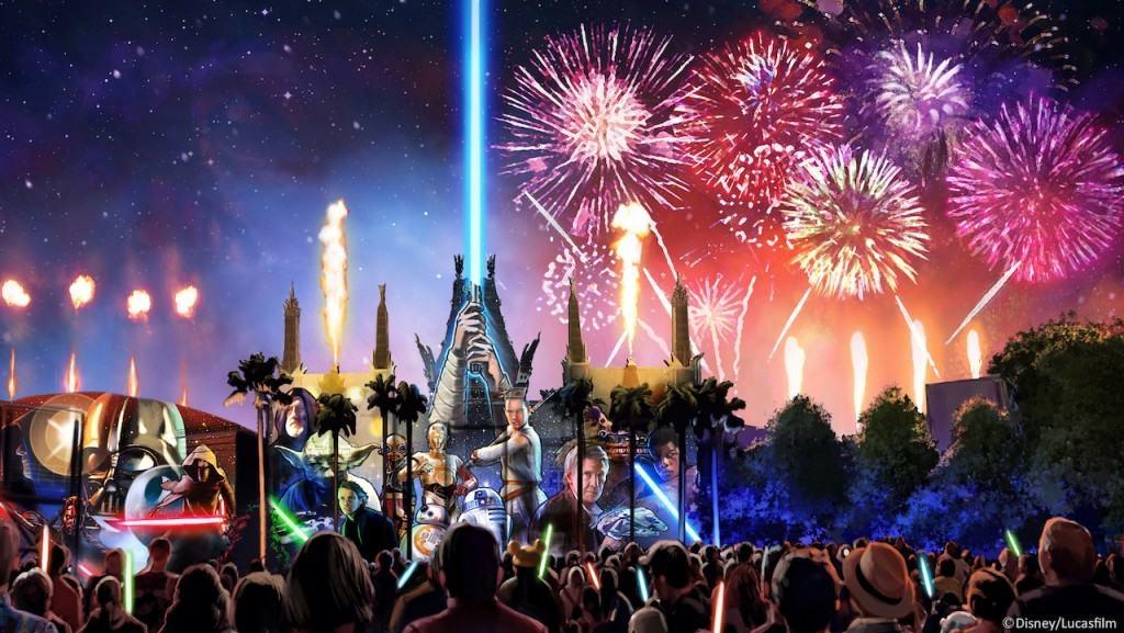 Star Wars: A Galactic Spectacular Concept Art at Disney's Hollywood Studios
