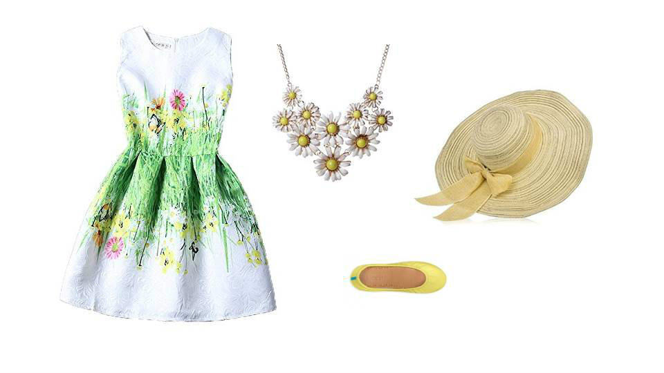 Epcot's Flower and Garden Festival theme park inspired look.