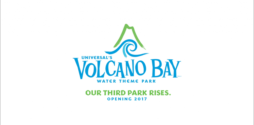 The official logo for Universal's Volcano Bay