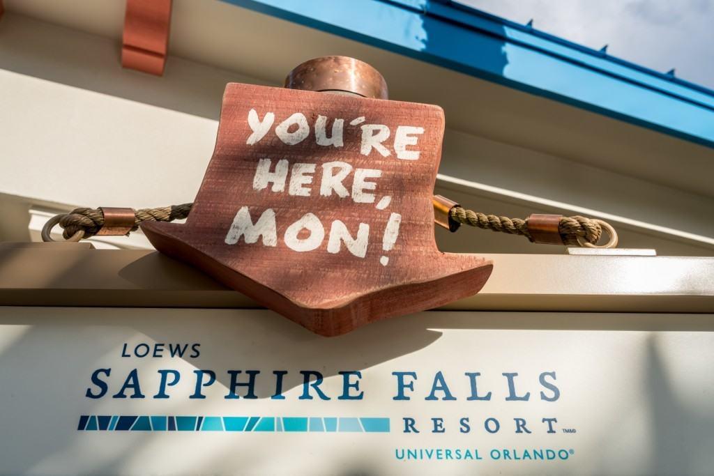 Loews Sapphire Falls Resort pool area at Universal Orlando
