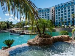 Loews Sapphire Falls Resort Waterfalls at Universal Orlando
