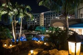 Loews Sapphire Falls Resort's beautiful waterfalls at Universal Orlando Resort