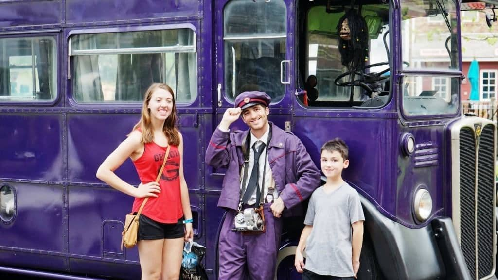 Knight Bus Conductor Wizarding World of Harry Potter