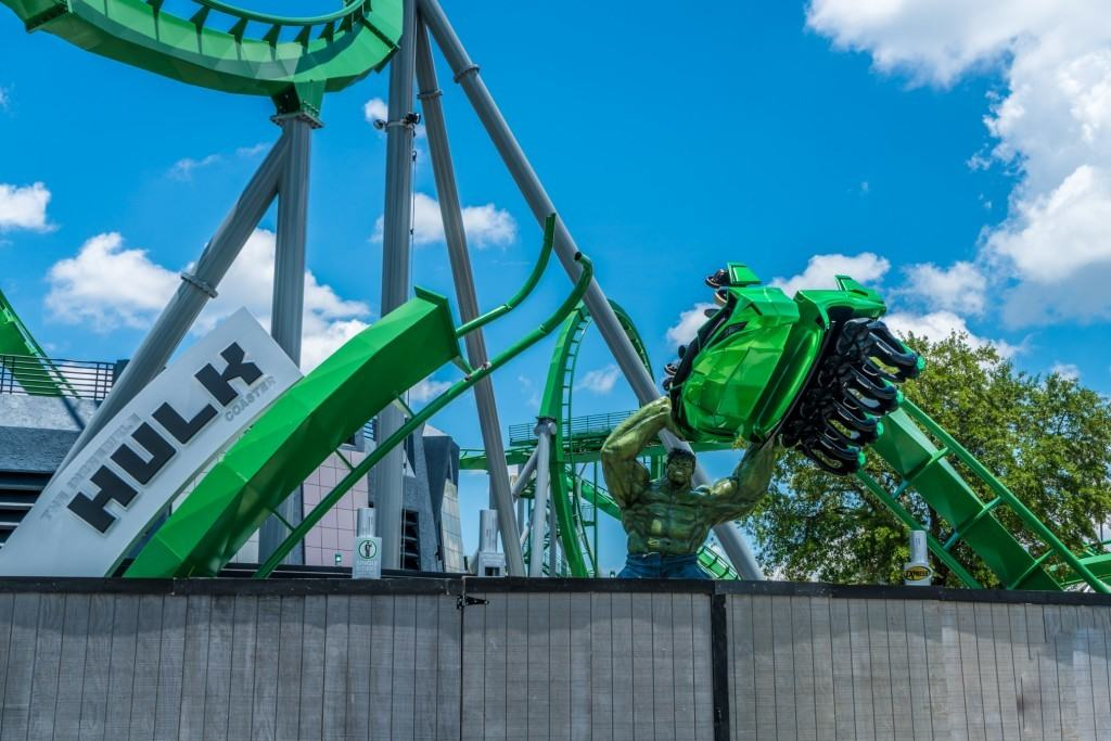 The Incredible Hulk Coaster Entrance Marquee