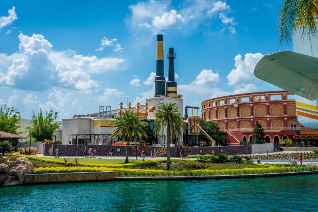 Toothsome Chocolate Emporium under construction at Universal Orlando's CityWalk