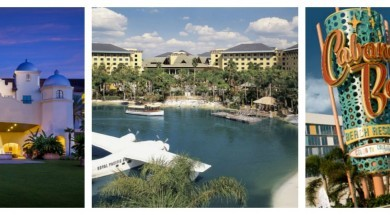 Universal Orlando hotel collage